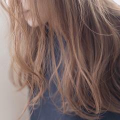 ハイトーンボブ ナチュラル ハイトーン セミロング ヘアスタイルや髪型の写真・画像