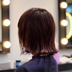 ガーリー 外ハネ ボブ 透明感 ヘアスタイルや髪型の写真・画像