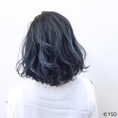 グラデーションカラー 外国人風 ボブ 暗髪 ヘアスタイルや髪型の写真・画像