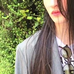 ナチュラル ロング インナーカラー ヘアスタイルや髪型の写真・画像