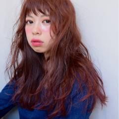 ストリート ウェットヘア ガーリー ロング ヘアスタイルや髪型の写真・画像