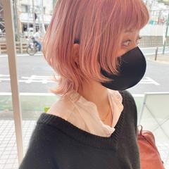 ストリート ウルフカット ピンク ショート ヘアスタイルや髪型の写真・画像