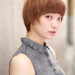 ショート ストリート 小顔 似合わせ ヘアスタイルや髪型の写真・画像