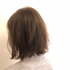 ナチュラル 外ハネ ボブ こなれ感 ヘアスタイルや髪型の写真・画像