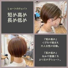 切りっぱなしボブ ショートボブ ショートヘア 髪質改善 ヘアスタイルや髪型の写真・画像