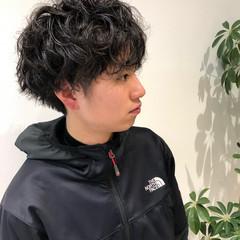 ショート パーマ ストリート 黒髪 ヘアスタイルや髪型の写真・画像