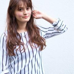 大人かわいい グラデーションカラー ロング ピュア ヘアスタイルや髪型の写真・画像