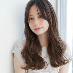 ロング 似合わせカット 前髪 透明感カラー ヘアスタイルや髪型の写真・画像