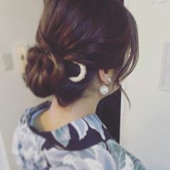セミロング 女子会 和装 デート ヘアスタイルや髪型の写真・画像