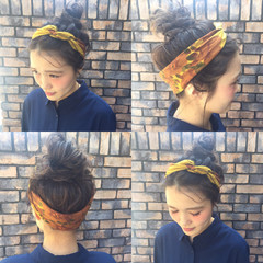 ヘアアレンジ ピュア アッシュ ナチュラル ヘアスタイルや髪型の写真・画像