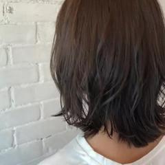 ナチュラル 外ハネ ボブ ミディアム ヘアスタイルや髪型の写真・画像