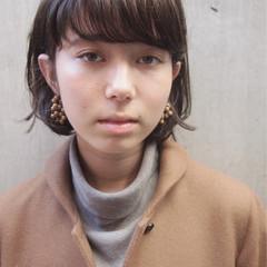 ショートボブ 前髪あり パーマ ショート ヘアスタイルや髪型の写真・画像
