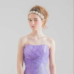 セミロング 結婚式 ヘアアレンジ ブライダル ヘアスタイルや髪型の写真・画像