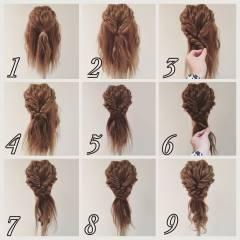 簡単ヘアアレンジ ロング 編み込み ヘアアレンジ ヘアスタイルや髪型の写真・画像