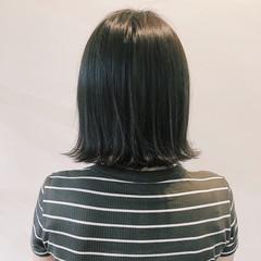 イルミナカラー 外国人風 ナチュラル ロブ ヘアスタイルや髪型の写真・画像