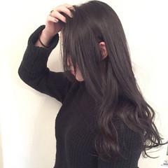 コンサバ 外国人風 ロング 黒髪 ヘアスタイルや髪型の写真・画像