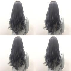 黒髪 セミロング 秋 外国人風 ヘアスタイルや髪型の写真・画像