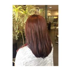 ラベンダーピンク 女子会 色気 斜め前髪 ヘアスタイルや髪型の写真・画像