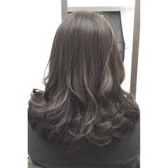 ミディアム 暗髪 大人かわいい ナチュラル ヘアスタイルや髪型の写真・画像