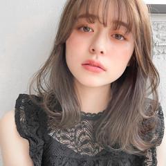 アンニュイほつれヘア パーティ フェミニン ミディアム ヘアスタイルや髪型の写真・画像