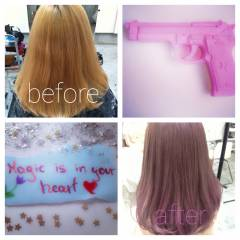 ピンク ストリート ブリーチ ガーリー ヘアスタイルや髪型の写真・画像