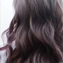 外国人風 ラベンダーアッシュ ヘアスタイル ハイライト ヘアスタイルや髪型の写真・画像