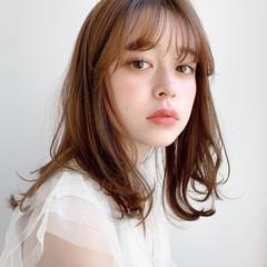 大人ミディアム 大人かわいい アンニュイほつれヘア デジタルパーマ ヘアスタイルや髪型の写真・画像