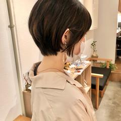 インナーカラー ベリーショート ナチュラル ショートボブ ヘアスタイルや髪型の写真・画像