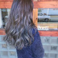 暗髪 大人女子 アッシュ グラデーションカラー ヘアスタイルや髪型の写真・画像