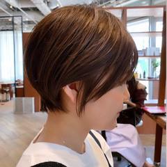 ショート ナチュラル ショートヘア デート ヘアスタイルや髪型の写真・画像