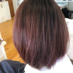 ハイライト ボブ イルミナカラー フェミニン ヘアスタイルや髪型の写真・画像