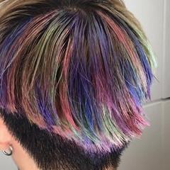 レッド ストリート ブリーチ ショート ヘアスタイルや髪型の写真・画像