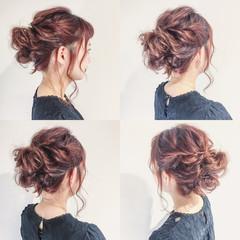ミディアム ルーズ 二次会 簡単ヘアアレンジ ヘアスタイルや髪型の写真・画像