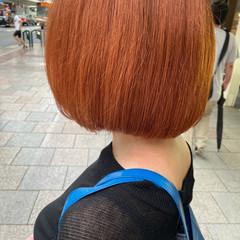 オレンジカラー オレンジ ブラットオレンジ アプリコットオレンジ ヘアスタイルや髪型の写真・画像