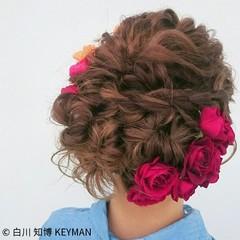 ショート 成人式 ゆるふわ ミディアム ヘアスタイルや髪型の写真・画像