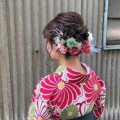 成人式 ガーリー 結婚式 ロング ヘアスタイルや髪型の写真・画像