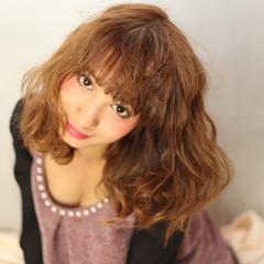 前髪あり セミロング 外国人風 ストリート ヘアスタイルや髪型の写真・画像