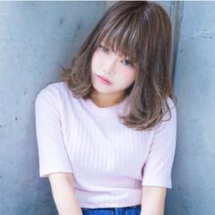 ミディアム 外国人風 秋 フェミニン ヘアスタイルや髪型の写真・画像