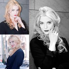 コンサバ グラデーションカラー 外国人風 ハイライト ヘアスタイルや髪型の写真・画像