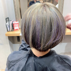 ショート ショートボブ コントラストハイライト ベリーショート ヘアスタイルや髪型の写真・画像