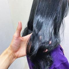 フェミニン ブルーバイオレット 艶髪 ブルージュ ヘアスタイルや髪型の写真・画像