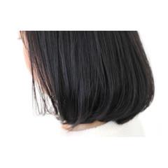 暗髪 イルミナカラー 大人女子 ボブ ヘアスタイルや髪型の写真・画像
