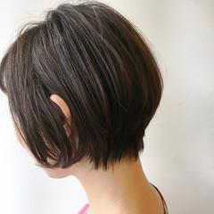 色気 大人かわいい ショートボブ ショート ヘアスタイルや髪型の写真・画像