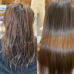 ナチュラル 艶髪 アッシュ 髪質改善カラー ヘアスタイルや髪型の写真・画像