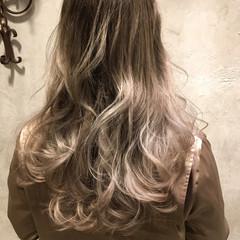 外国人風 ブリーチ ストリート グラデーションカラー ヘアスタイルや髪型の写真・画像