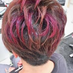 ナチュラル 大人かわいい ピンク レッド ヘアスタイルや髪型の写真・画像