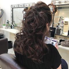 ロング 上品 巻き髪 エレガント ヘアスタイルや髪型の写真・画像