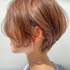 ナチュラル ショートヘア ショートボブ 大人ショート ヘアスタイルや髪型の写真・画像