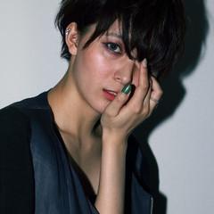 ショート モード 外国人風 かっこいい ヘアスタイルや髪型の写真・画像