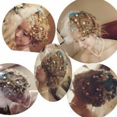 ヘアアレンジ ブライダル コンサバ ヘアスタイルや髪型の写真・画像